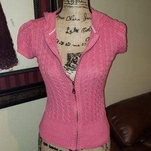 Aeropostale short sleeve zipper jacket